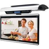 Venturer KLR19132 Under Cabinet 15.4 inch Swivel LCD Monitor Drop Down Kitchen TV with Built-In Wi-Fi & Magentic Remote Control